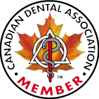 CDA member seal.  This Kitsilano, Vancouver dentist is a CDA member.